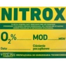 TecLine Sticker NITROX 30 x 22,5 cm (pol. ver.)